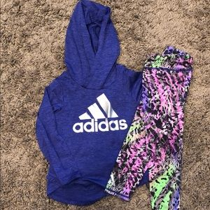 Purple adidas outfit